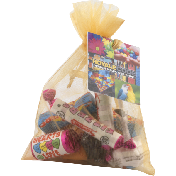 Organza Bag (Large) with Retro Sweets
