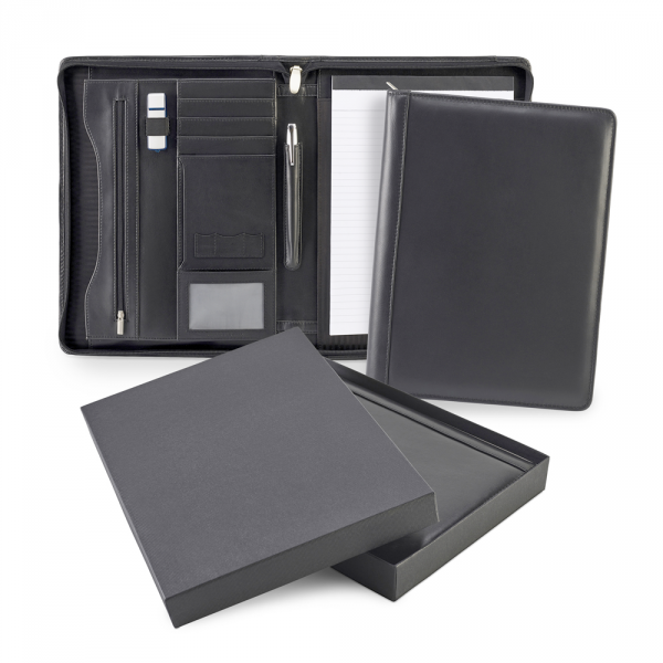 Sandringham Nappa Leather Deluxe Zipped A4 Conference Pad Holder
