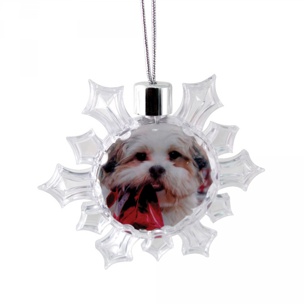 Snowflake Ornament - Clear
