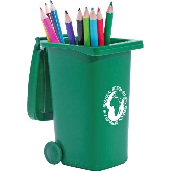 Recycled Wheelie Bin Pen Pot