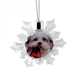 Promotrendz product Snowflake Ornament - Clear