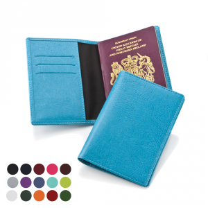 Promotrendz product Passport Wallet in a choice of Belluno Colours