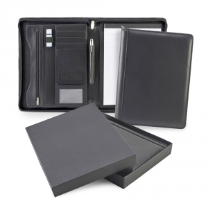 Promotrendz product Sandringham Nappa Leather Deluxe Zipped A4 Conference Pad Holder