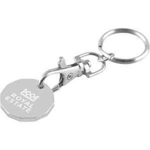Promotrendz product Trolley Coin Keychain - Laser Engraved (5 Day Service)