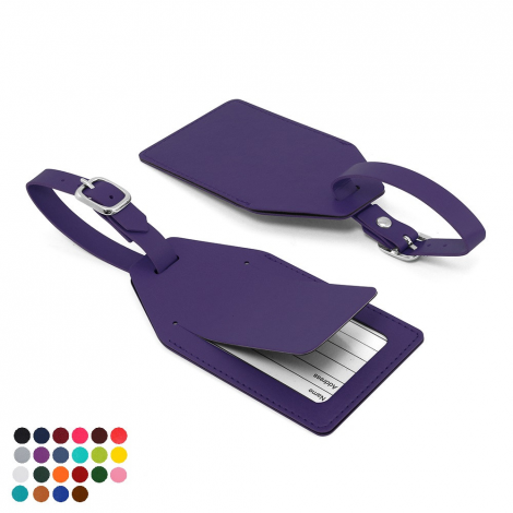 Small Luggage Tag with Security Flap in a choice of Belluno Colours