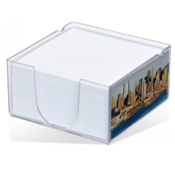 Acrylo Memo Block with Paper Refill - Medium