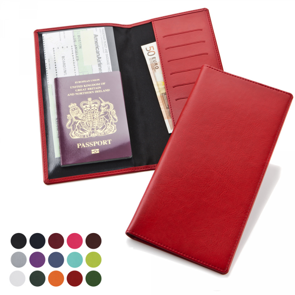 Travel Wallet in a choice of Belluno Colours