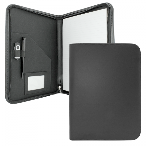Clapham PU A4  Zipped Conference Folder
