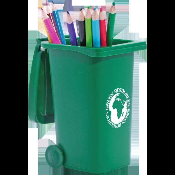 Recycled Wheelie Bin Pen Pot